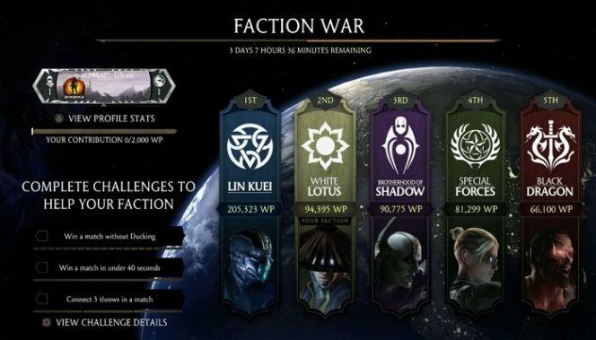 faction wars mortal kombat X