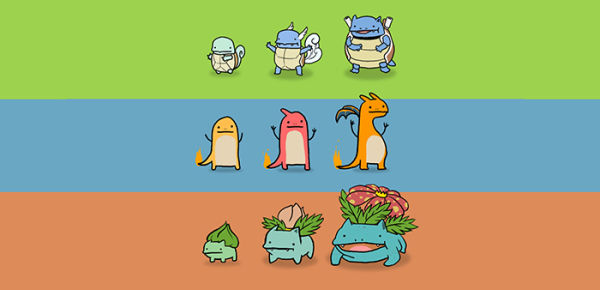 pokemon iniziale, charmender, bulbasaur o squirtle