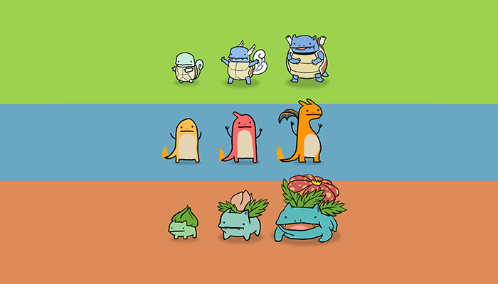 Pokemon iniziale charmander squirtle o bulbasaur for Immagini bulbasaur