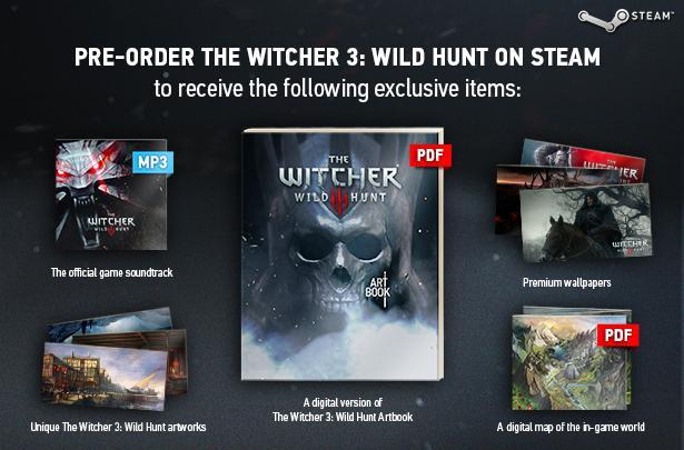 The Witcher 3, tutti i bonus di prenotazione