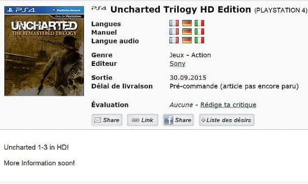 Uncharted: The Remastered Trilogy