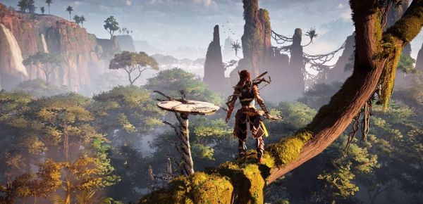 Horizon Zero Dawn mostrato su PS4 Pro