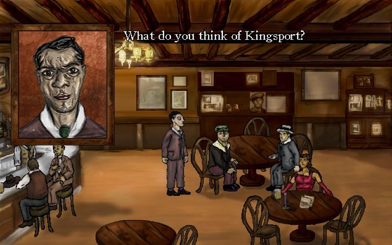 I tre banditi protagonisti cercano informazioni per arrivare al vecchio